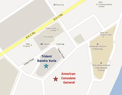 Appointment And Contact Information US Embassy Consulates In - Us consulate hyderabad address map