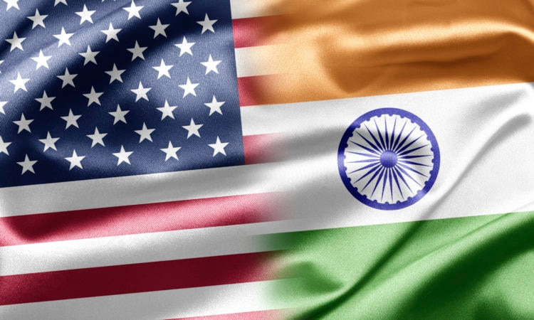 United States-India Flags
