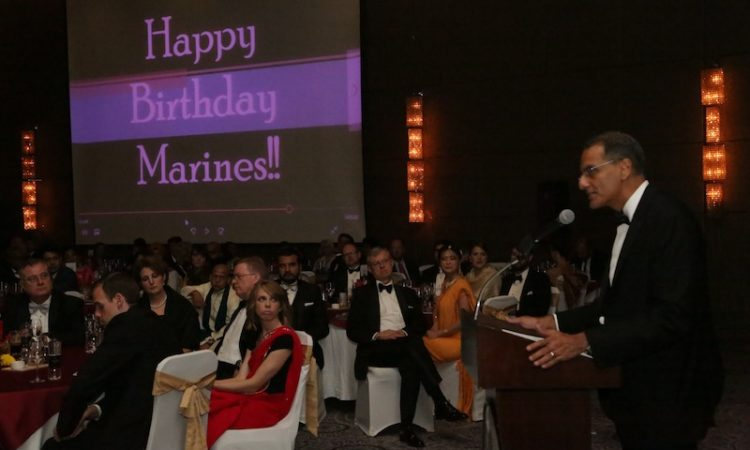 Ambassador Verma at the United States Marine Corps 241st Anniversary Ball