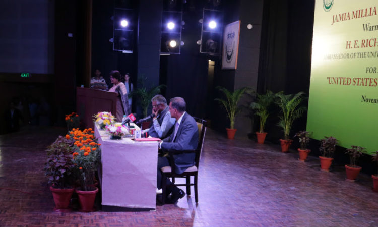 Ambassador Richard R. Verma, November 1, 2016 Jamia Millia Islamia, New Delhi