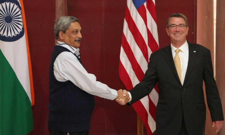 Secretary Carter with Raksha Mantri Shri Manohar Parrikar