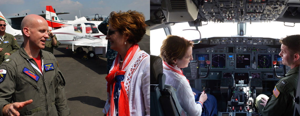 Chargé d'Affaires MaryKay Carlson at #AeroIndia2017 in Bengaluru