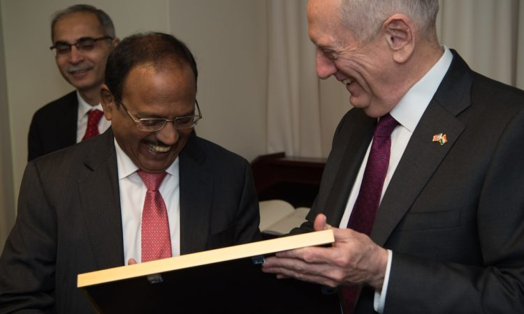 SecDef Meets India's National Security Advisor