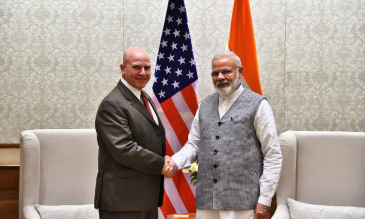 National Security Advisor of the USA Lt. Gen. H.R. McMaster calls on PM (Gopal Baglay @MEAIndia (Twitter))