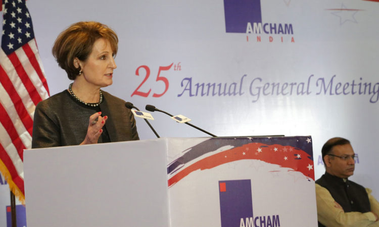 Remarks by Chargé Carlson at Annual General Meeting of American Chamber of Commerce in India
