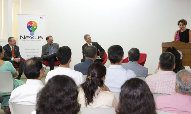 Charge d' Affaires MaryKay Carlson addresses Nexus Startup Hub - July 21, 2017