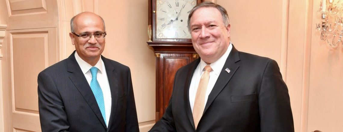 Secretary Pompeo's Meets with Indian Foreign Secretary Gokhale